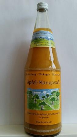 Flasche Apfel-Mango-Saft