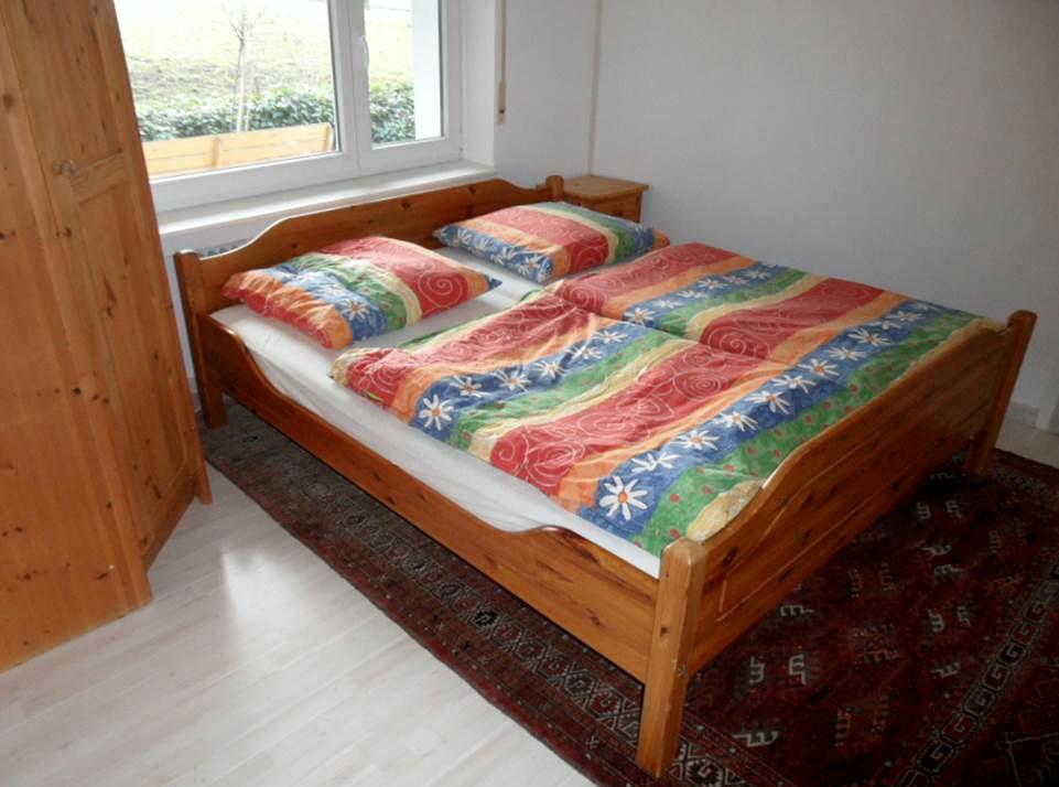 Doppelbett Ferienwohnung Bolbergblick