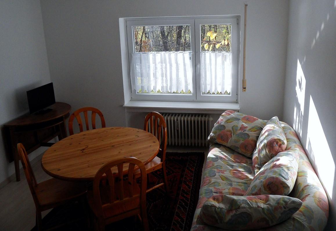 Wohnzimmer der Ferienwohnung Bolbergblick
