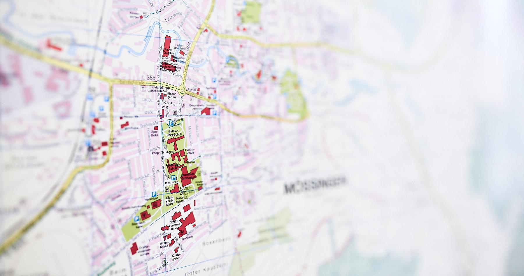 Auszug aus dem Stadtplan