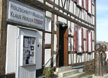 Fachwerkfassade des Holzschnitt-Museums