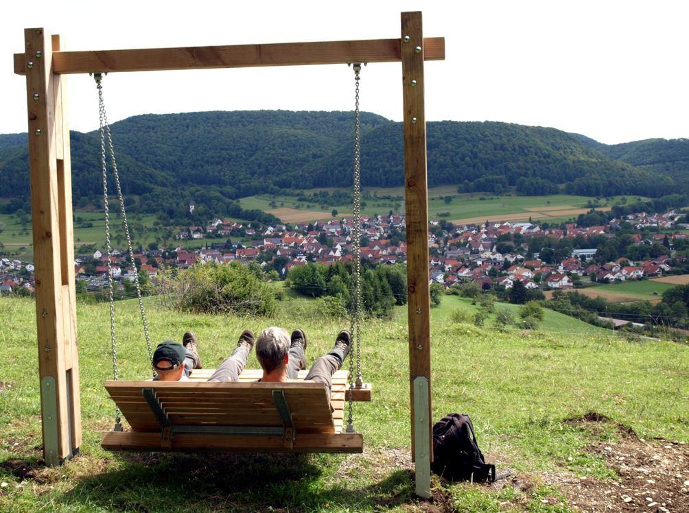 Panoramaschaukel am Dreifürstensteig