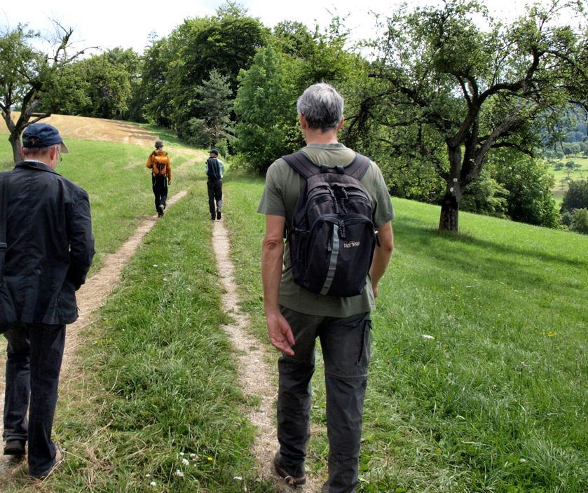 Wanderer auf dem Dreifürstensteig
