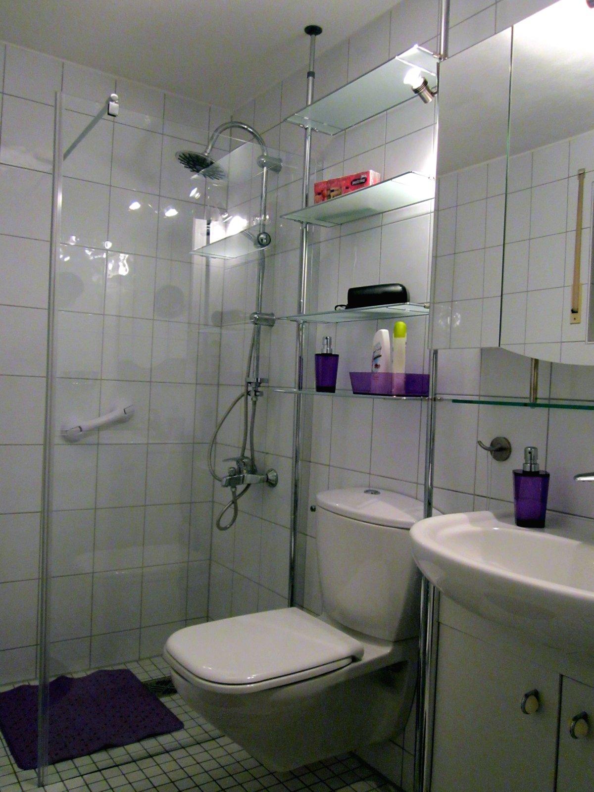 Bad der Wohnung Bambusgarten