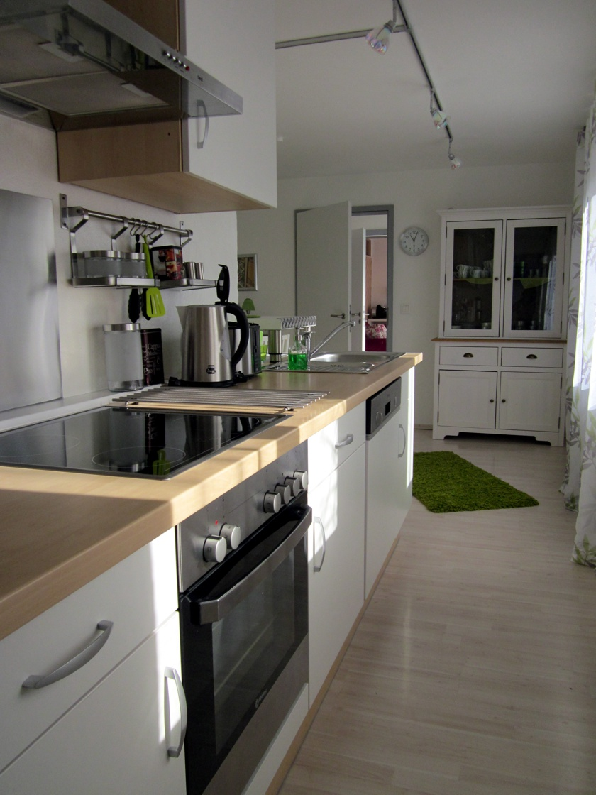 Küchenzeile der Wohnung Bambusgarten