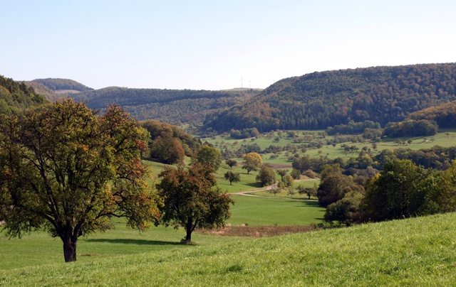 Blick vom Dreifürstensteig zum Himmelberg (Armin Dieter)