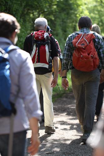 Wanderer auf dem Dreifürstensteig (A. Letsch)
