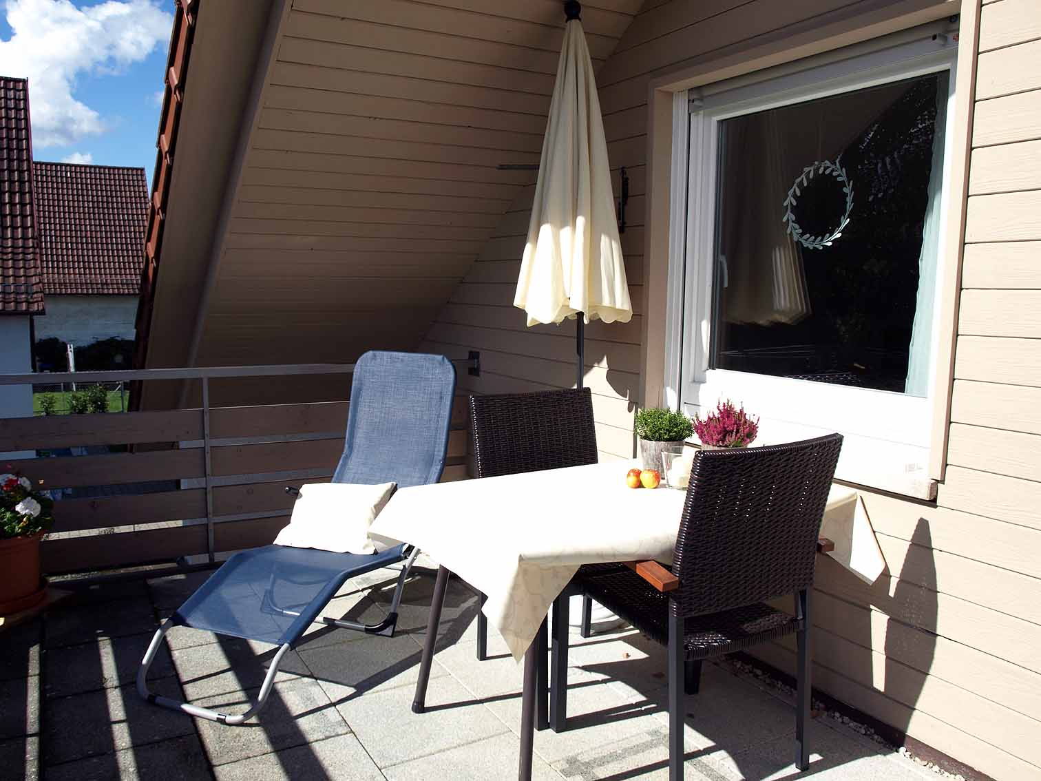 Sonnenbalkon der Ferienwohnung Am Geißbächle