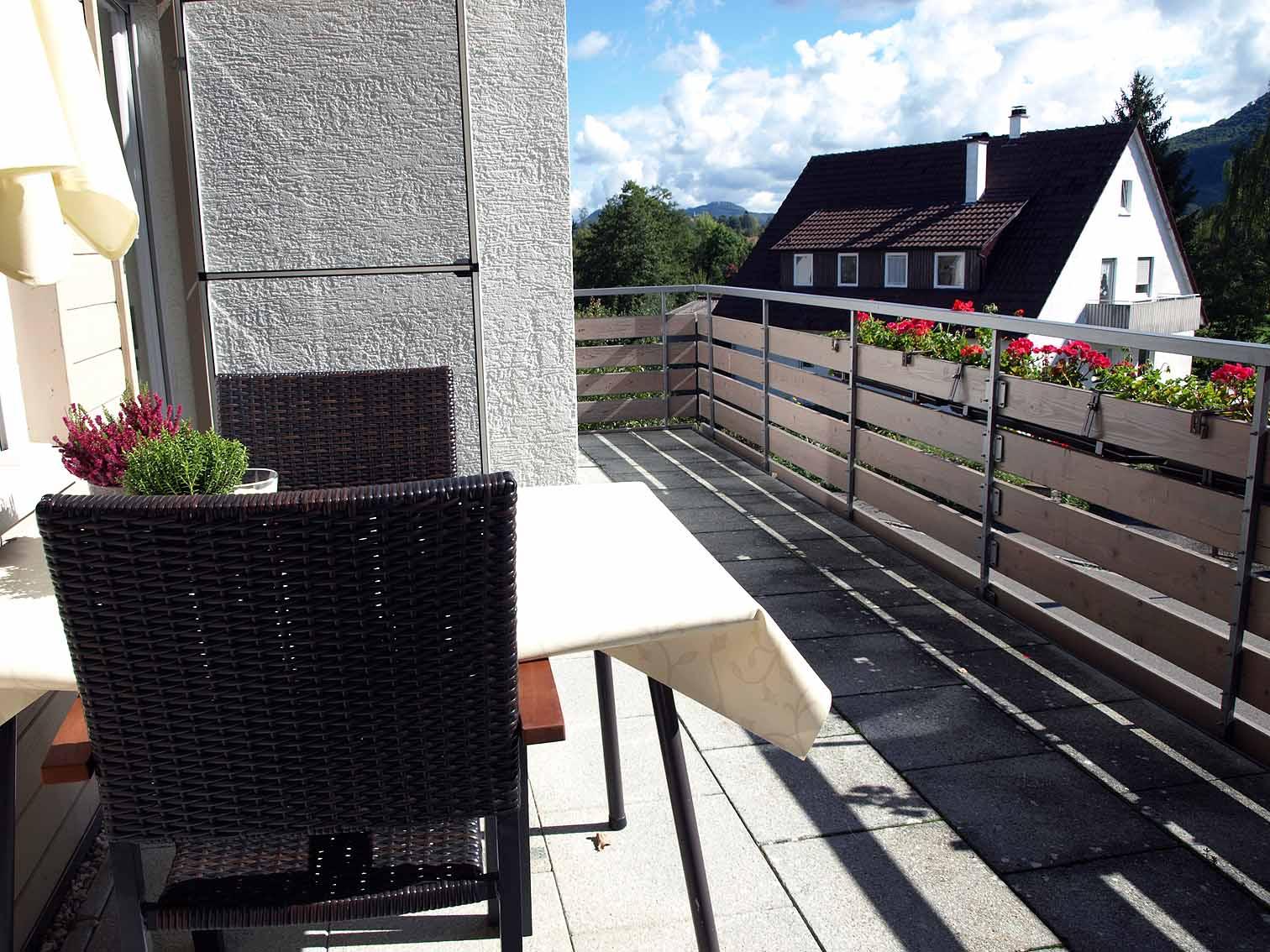 Balkon der Ferienwohnung Am Geißbächle