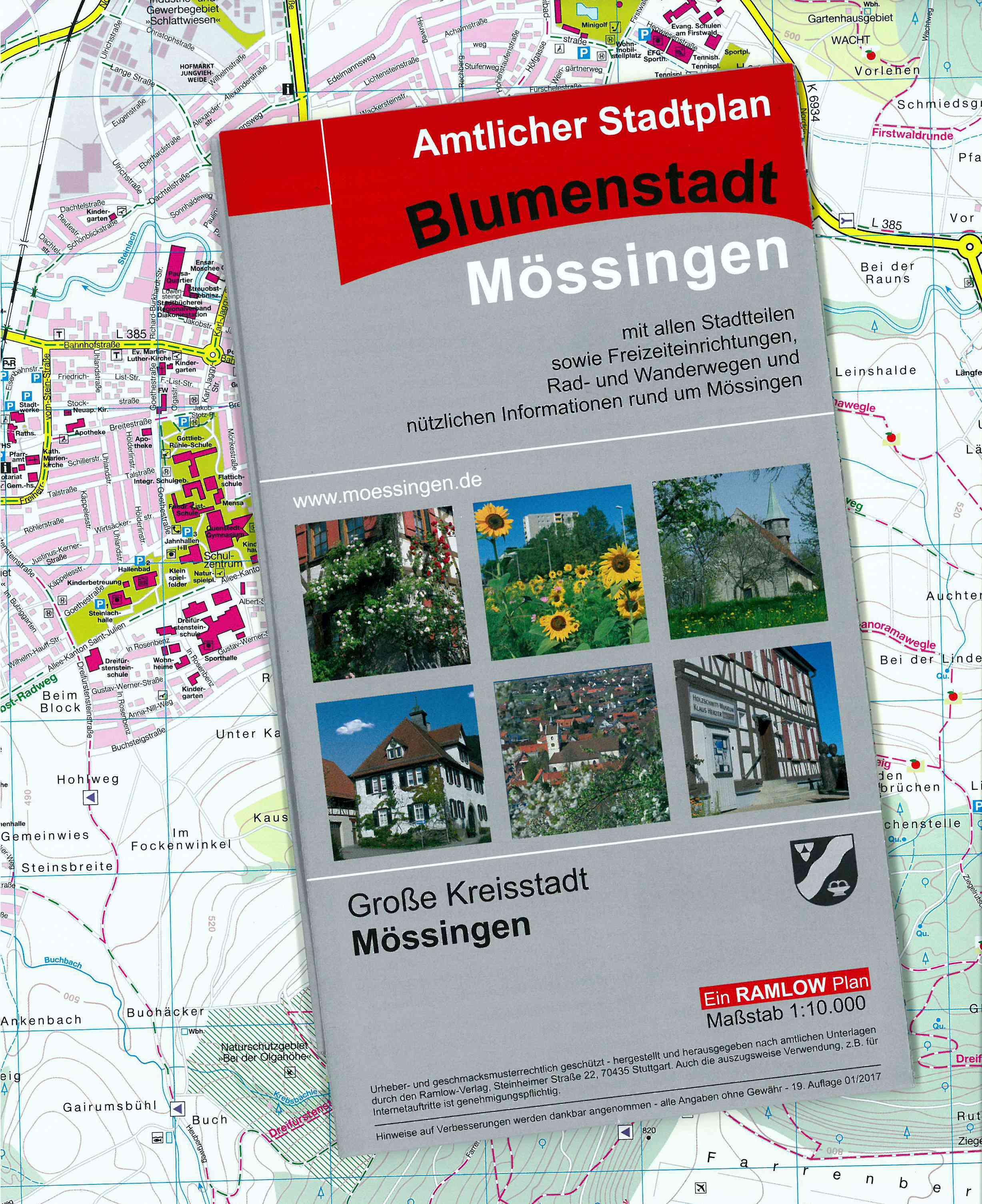 Amtlicher Stadtplan Mössingen