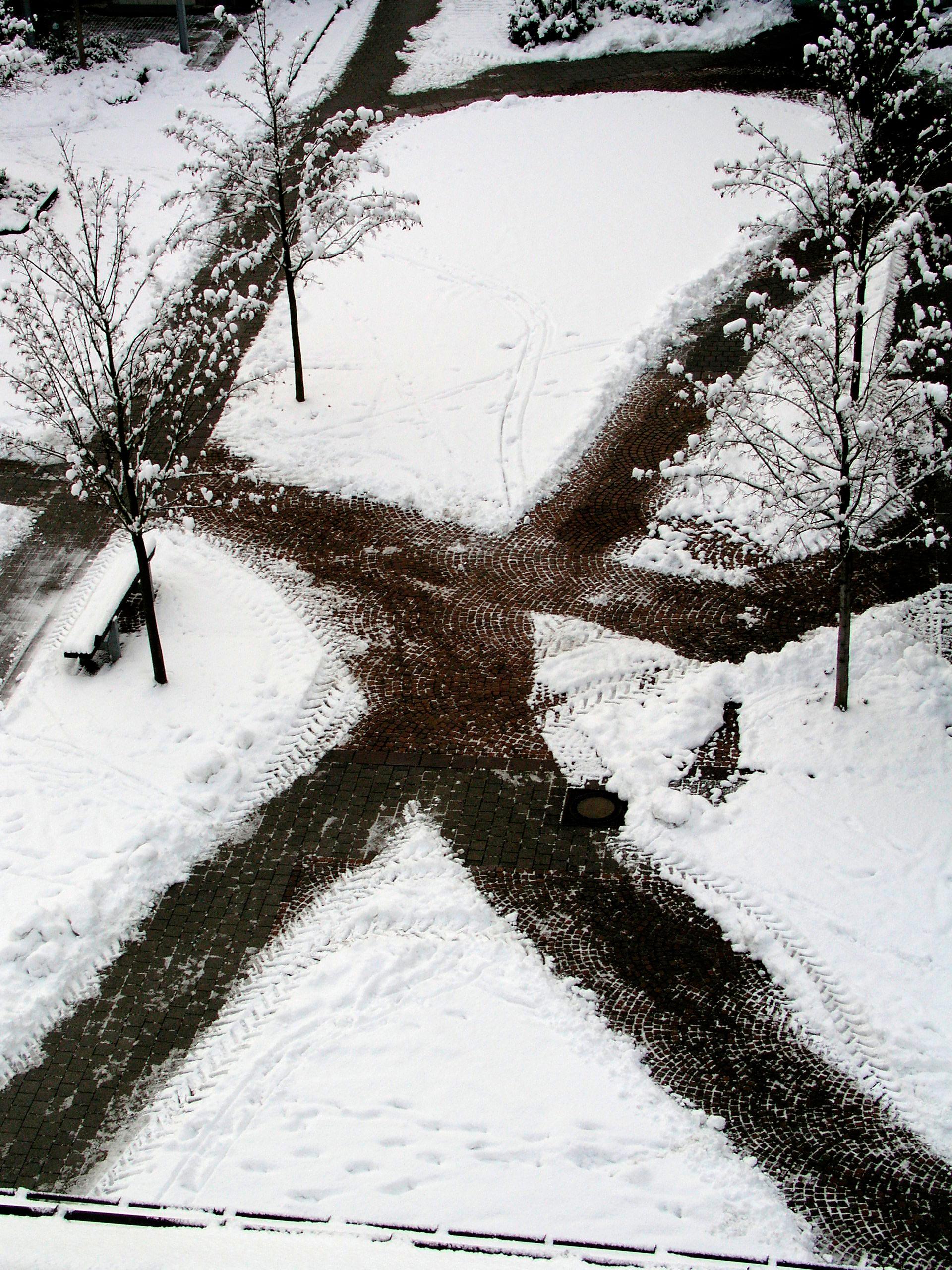 Wege im Schnee