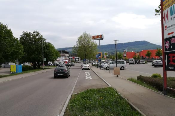 Flächen und Zufahrt ins Gewerbegebiet Riethaecker Mössingen