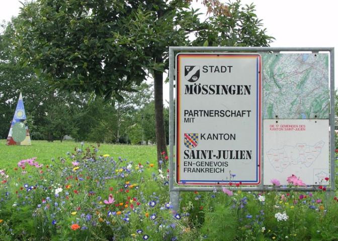 Schild in Mössingen
