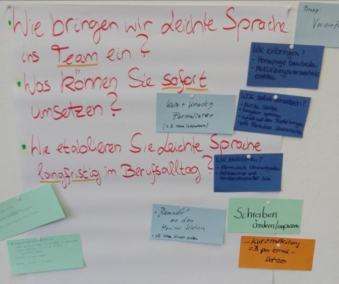 Bild eines Whiteboards in dere Dolmetscher Schulung