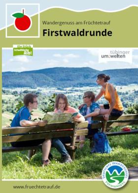 Flyer zum Premiumwanderweg Firstwaldrunde