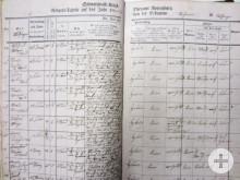 Mössinger Geburts-Tagebuch aufgeschlagen