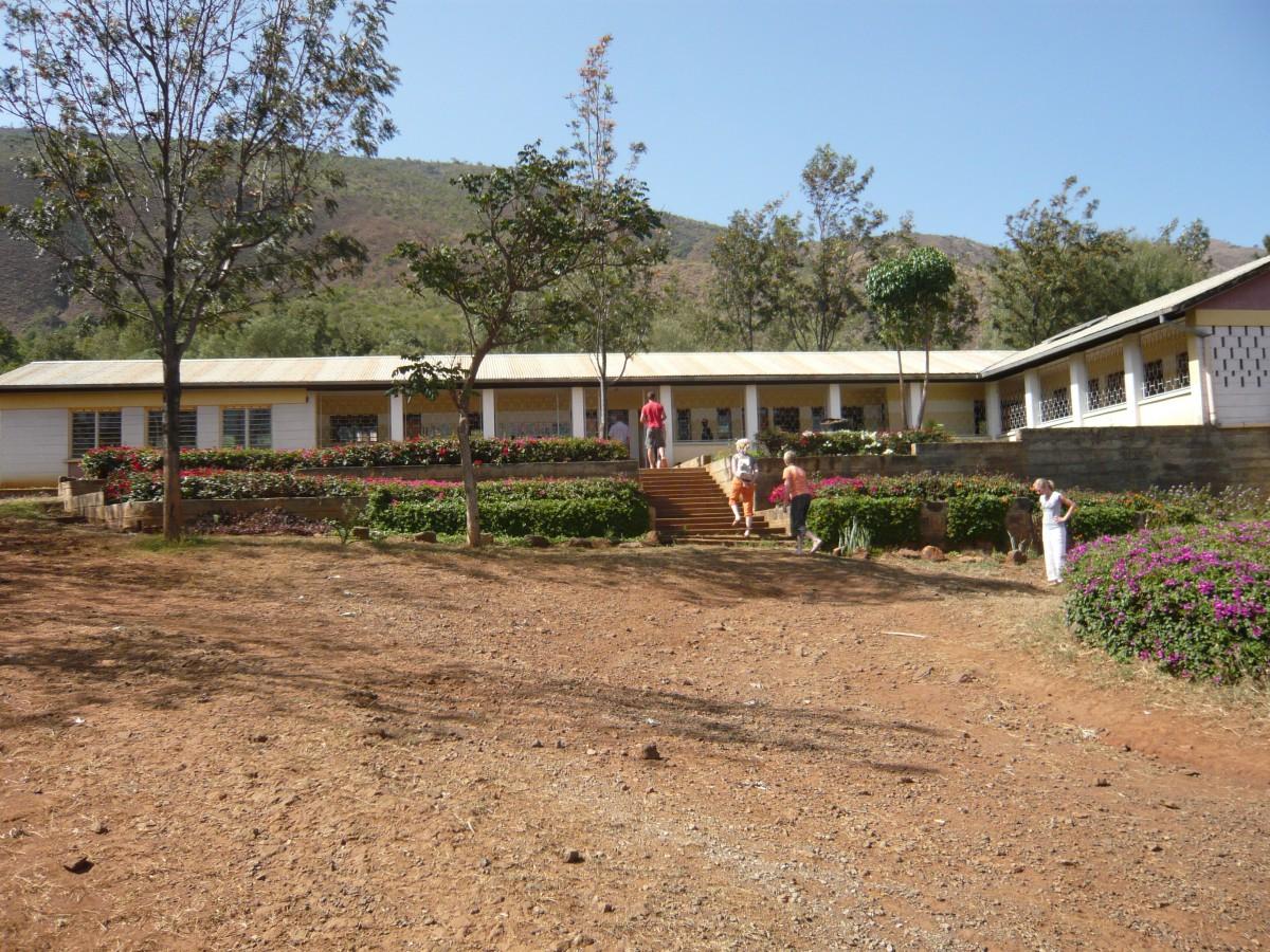 Der Eingang der Krankenstation