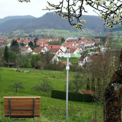 Panoramaliege im Öschinger Gartenhausgebiet