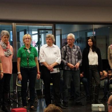 Gruppenbild mit Vertretern der Eine Welt Initiativen in Mössingen