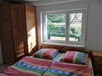 Schlafzimmer der Ferienwohnung Bolbergblick