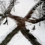 Freigebahnte Wege im Schnee