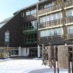 Das Rathaus Mössingen im Winter