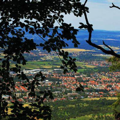 Blick vom Albtrauf nach Mössingen