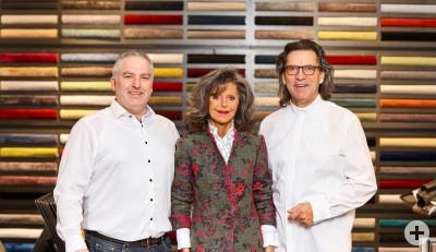 Alexander Rühle, Sibylle Heinz und Helmut Heinz, begrüßen Sie bei Heinz & Rühle Raumgestaltung,