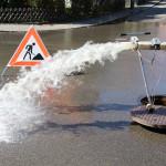 Wasserrohr bei der Netzkontrolle