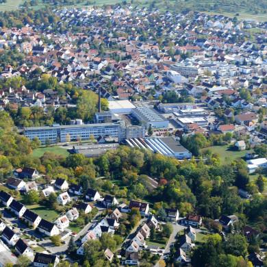 Luftbild Pausa und Innenstadt