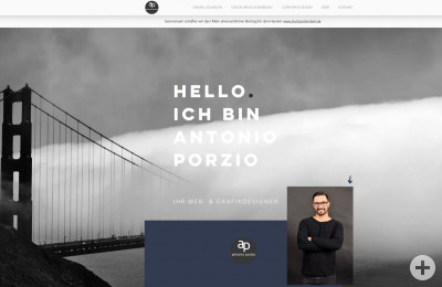 Antonio Porzio Web- & Grafikdesign Screenshot Homepage