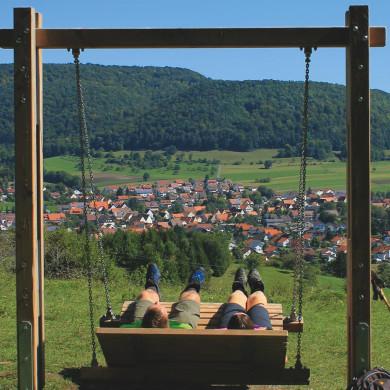 Panoramschaukel am Dreifürstensteig