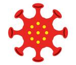 Corona-Symbol in rot