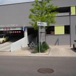 Zufahrtsbereich zum Parkhaus Stadtmitte