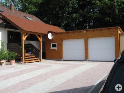 Garage und Vordach