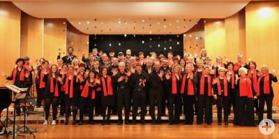 Chorgemeinchaft beim Konzert AMERIKA