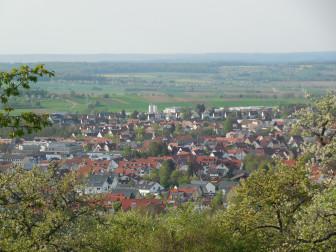 Blick auf Mössingen im Frühjahr
