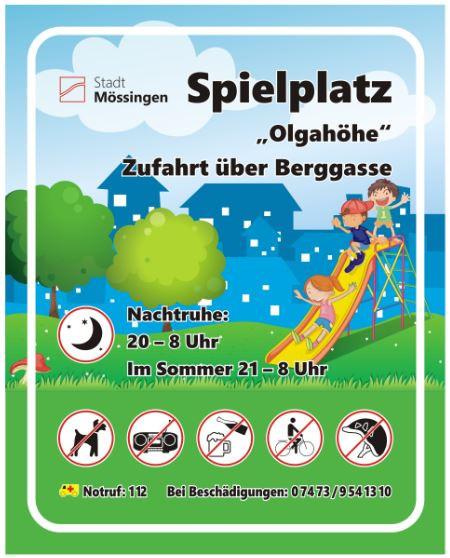 Schild Olgahöhe