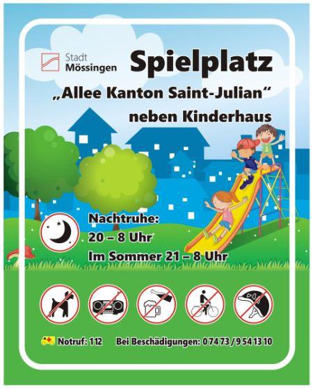 Schild Allee-Kanton-Saint-Julien