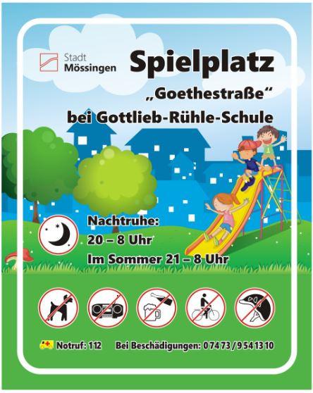 Schild Goethestr.