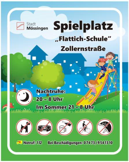 Schild Flattich-Schule