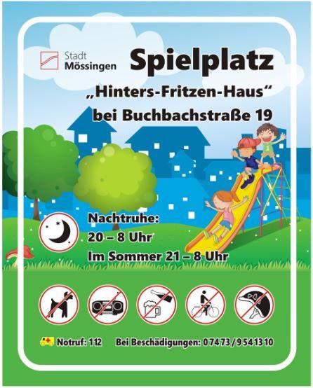 Schild Hinters Fritzenhaus