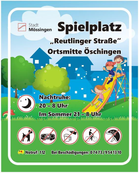 Schild Reutlinger Str.