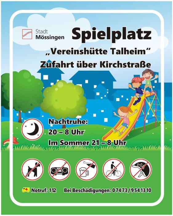 Schild Vereinshütte Talheim