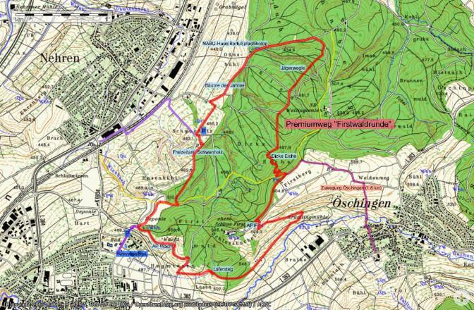 Übersichtskarte Firstwaldrunde