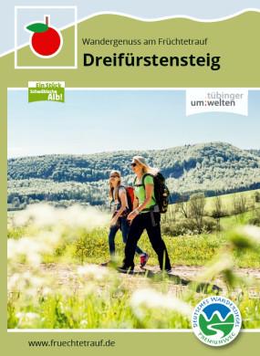 Flyer zum Premiumwanderweg Dreifürstensteig