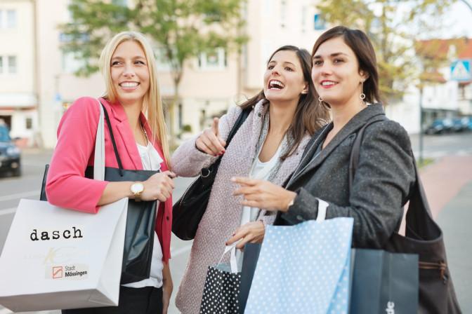 Shopping mit der Mössinger Tasche