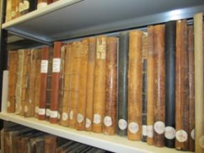 Gemeinderatsprotokolle ab 1780 im Mössinger Archiv