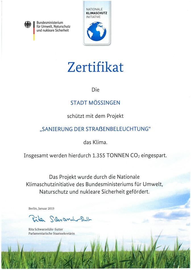 ZertifikatBeleuchtung