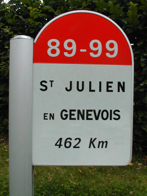 Wegweiser Saint-Julien